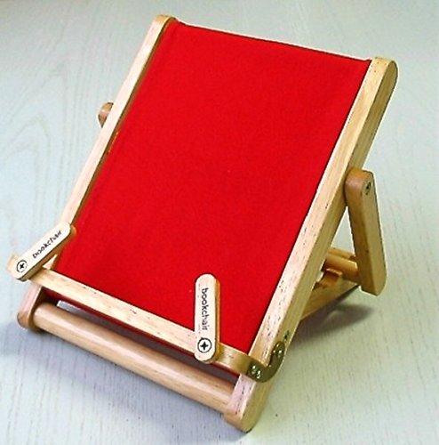 Thinking Gifts Bookchair Deluxe Bookholder, Medium, Red, 1 unit (BCD2C)