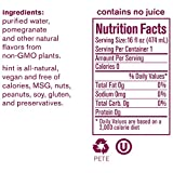 Hint Water Pomegranate, (Pack of 12) 16 Ounce Bottles, Pure Water Infused with Pomegranate, Zero Sugar, Zero Calories, Zero Sweeteners, Zero Preservatives, Zero Artificial Flavors