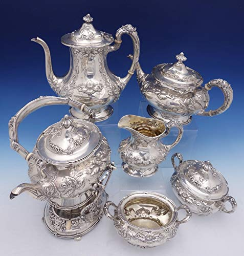 Imperial Chrysanthemum by Gorham Sterling Silver Tea Set 6pc (#3106) Antique ()