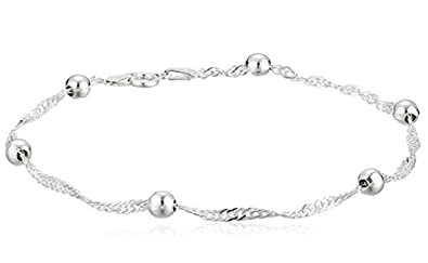 1pc Sterling Silver Anklet Bracelet Singapore