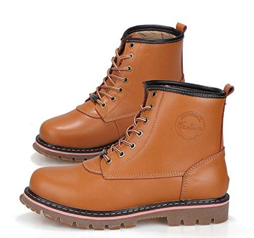 Herren Martin Stiefel Aus Echtem Leder Casual Retro Road Footwear Trekking Schuhe Brown