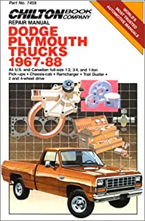 Dodge fullsize pick ups 1974 thru 1993 2wd 4wd six cylinder dodgeplymouth trucks 1967 88 chiltons repair manual 7459 fandeluxe Images
