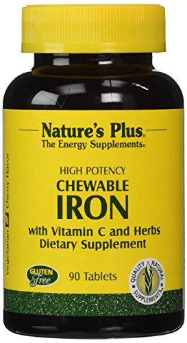 Nature's Plus - Chewable Iron with Vitamin C and Herbs, 90 tablets