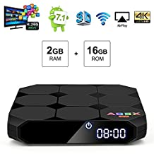 Android Box, DBnice Android TV Box, A95X Android 7.1 TV Box with 2GB RAM 16GB ROM Amlogic Quad Core A53 Processor 64 Bits 4K Playing