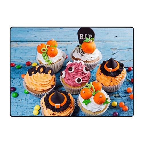 stahhn Entrance Mat Halloween Cupcake Doormat Decorative Floor Mat Kitchen,Bathroom Rug Non Slip 31x20 in]()