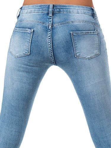 Básico Azul Mujer Jeans para Skinny Vaqueros Diva fc7WqSw