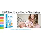 Ef-Chlor, Baby Water Bottle (Feeding Bottle) and Sippy Cup Sterilizing Tablets, Complete Protection for Your Child, 64 Tablets, 3 Years Shelf Life