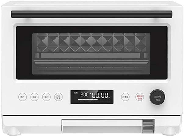 1000W Combination Microwave Oven 23L 220V ,simple One-button Operation Smart Oven Suitable for Kitchen/Coffee House/Bookstore, White