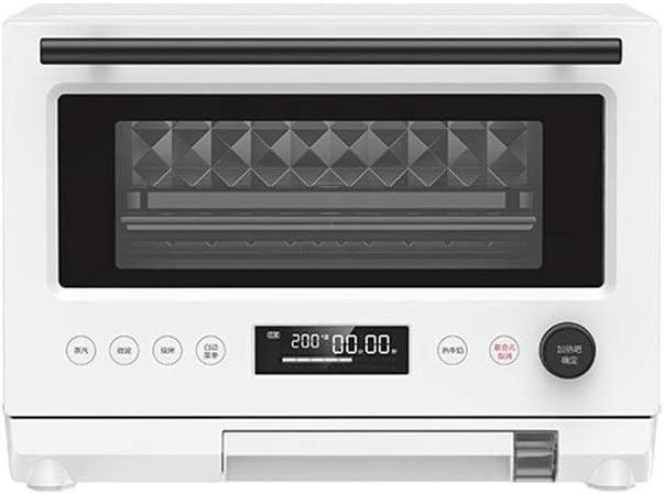 1000W horno combinado con microondas 23L 220V, simple con un solo botón de operación inteligente Horno Adecuado for Cocina/Cafetería/Librería, blanca: Amazon.es: Hogar