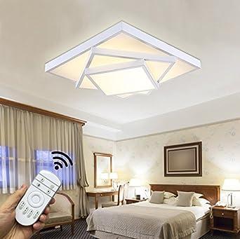 Stylehome LED Deckenlampe Für Wohnzimmer Schlafzimmer Kinderzimmer Voll  Dimmbar Mit Fernbedienung Weiß 6906F 30W [Energieklasse