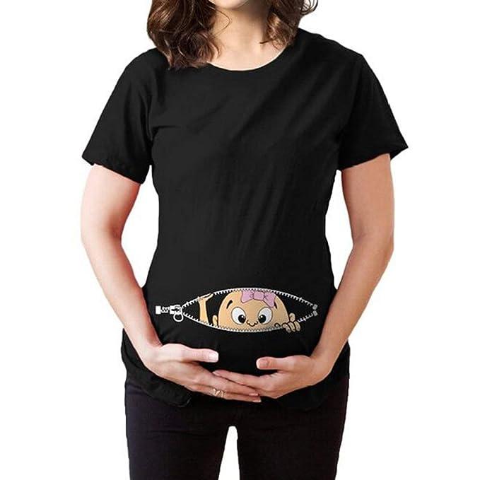 JiXuan Femmes Imprimer Pregnants Chemisier Allaitement Casual Bébé pour  Maternité T-Shirt Tops  Amazon.fr  Vêtements et accessoires ef4335d5b5c