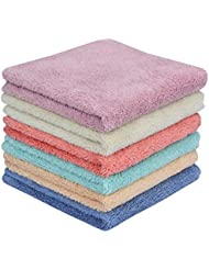 MAYOUTH Microfiber cleaning Cloth Cleaning rags kitchen dish cloths Absorbent Soft Multifunctional for House and Kitchen Dish Dust Cloths Reusable Antibacterial Wipes (6 colors, 6)