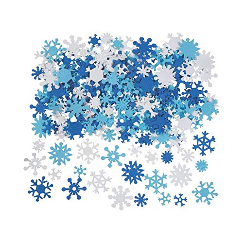 Fun Express 400 Foam Snowflakes for Craft Projects
