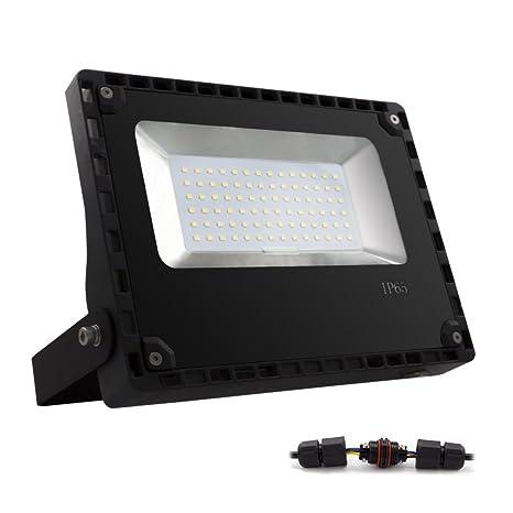 ALOTOA® 50W Foco proyector LED para exteriores, Blanco cálido ...