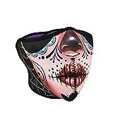 Zanheadgear WNFM082H Neoprene Half Mask Sugar Skull