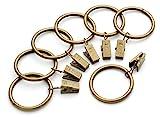 Perfect Order Iron Metal Curtain Clip Rings 1 1/2 Inch Interior Diameter (50, Bronze Antiqued)