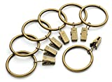 iron curtain rings - Perfect Order Iron Metal Curtain Clip Rings 1 1/2 Inch Interior Diameter (50, Bronze Antiqued)