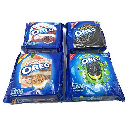 (Oreo Variety - Carrot Cake, Red Velvet, Dark Chocolate, Spring Oreo (Pack of 4))