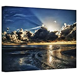 Art Wall 'Atlantic Sunrise' Gallery Wrapped Canvas Art By Dan Wilson, 32 By 48-inch