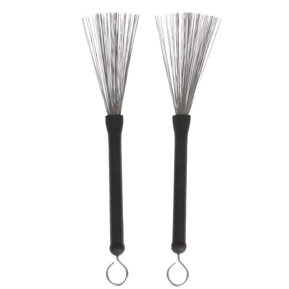 Domybest Professional 1 Pair Drum Brush with Handle for Jazz Drum Sticks Jazz Drumsticks