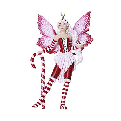(Pacific Giftware Peppermint Fairy Hanging Ornament Amy Brown Holiday Collection Christmas Tree Hanging Ornaments 4 inch)