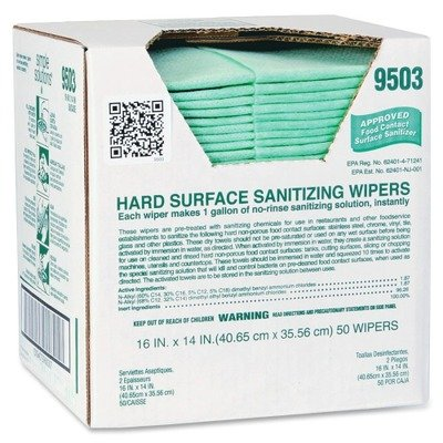 ITW9503 - ITW Simple Solutions Hard Surface Sanitizing Wipes
