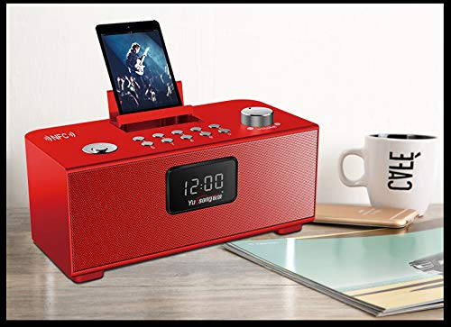 xingganglengyin Wireless Bluetooth Speaker Desktop Card Computer Phone Outside Audio Car Subwoofer Alarm Clock by xingganglengyin (Image #2)