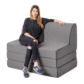 Peltre lana efecto OLIVIA espuma doble fold out sofá cama Z cama tumbona