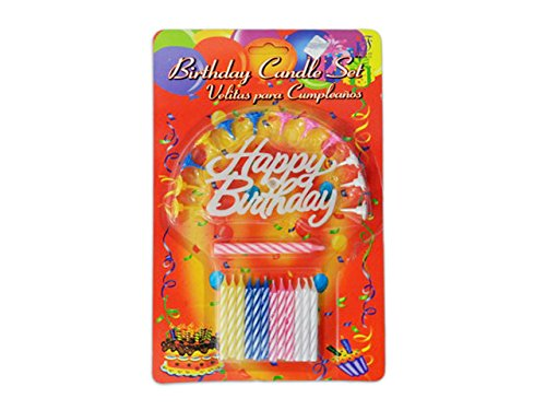 26PC Happy Birthday Candle Set , Case of 144