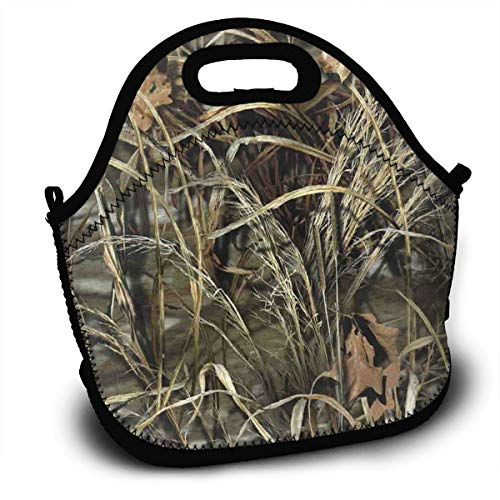 LZZ9UT Realtree Camo Wallpapers Logo Lunch Tote Reusable Lunch Bags Lunch Boxes with Straps ()