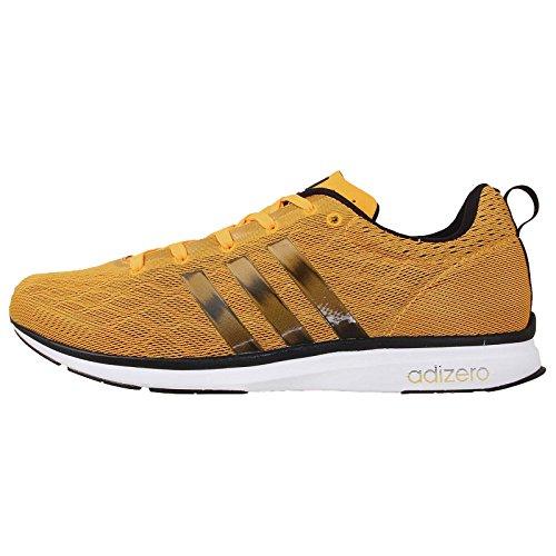 Adidas Men's Adizero Feather 4 M, GOLD/BLACK/WHITE, 9.5 M US