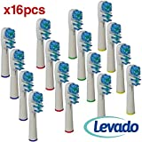 Oral B Replacement Brush Heads- Pack of 16 Oralb Braun Dual Clean Electric Toothbrush Heads- Generic Brushes Compatible With Oral-b Pro 1000 1500 3000 5000 6000 8000 9000 Vitality, Triumph & More