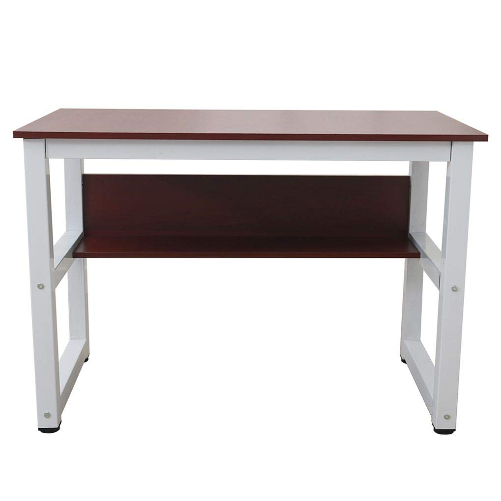 AUWU Rectangle Computer Desk Wood Work Station Writing Table Home Office Furniture Apartment Study Desk