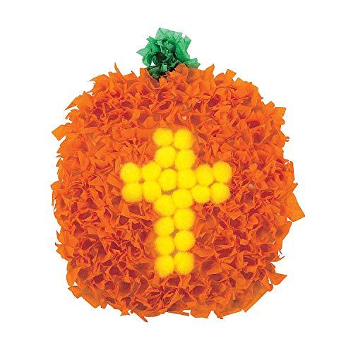 Christian Halloween Crafts (Fun Express - Christian Pumpkin Crinkle Tissue Papr ck for Halloween - Craft Kits - Hanging Decor Craft Kits - Tissue Paper Crafts - Halloween - 12)