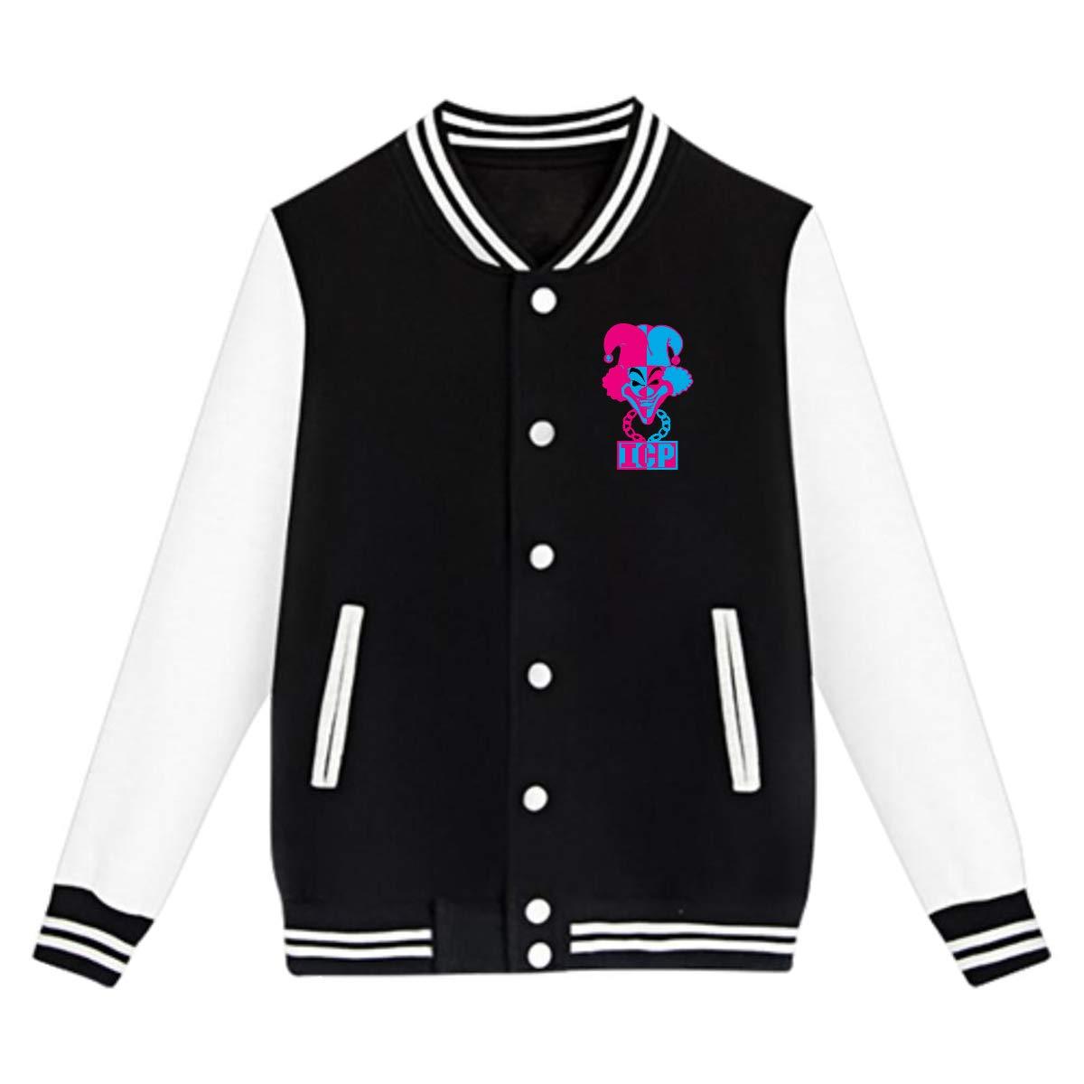 LIALUER Hatchetman ICP Boys Kids Baseball Uniform Jacket Coat Sweater