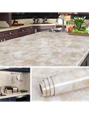 Livelynine 90CMX5M Countertop Adhesive Covering Marble Contact Paper Peel and Stick Countertops for Kitchen Counter Top Covers Desktop Table Marble Wallpaper Self Adhesive Extra Wide Removable Waterproof