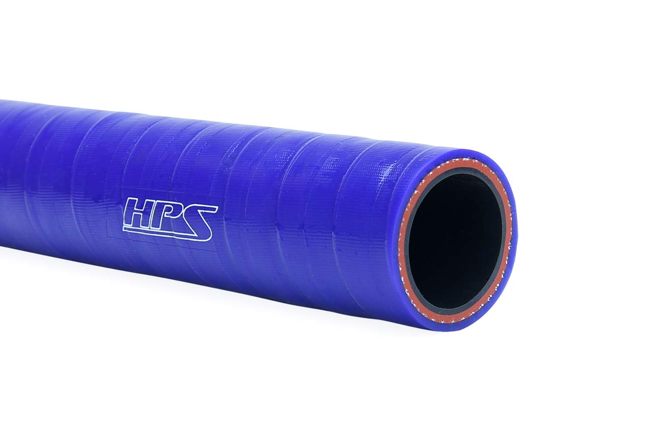 Temp Sold per Feet HPS 5//16 4mm Wall Thickness 8mm FKM Lined Oil Resistant Black High Temperature Reinforced Silicone Hose 350F Max