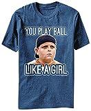 The Sandlot You Play Like A Girl 20th Century Fox Movie Adult T-Shirt Tee, Medium, Blue