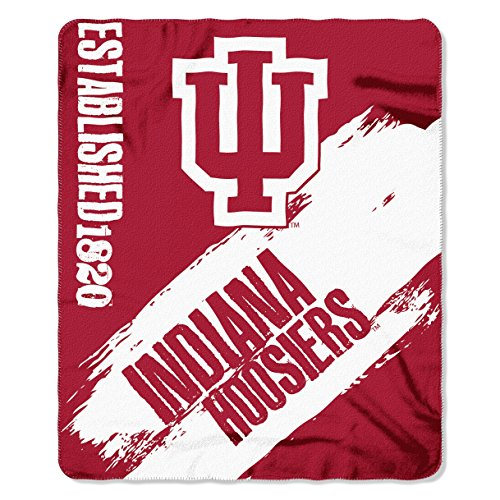 Northwest COL 031 NCAA Indiana Hoosiers Painted Printed Fleece Throw Blanket, 50