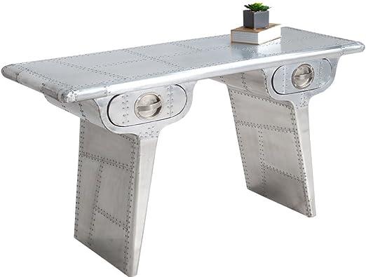 Paradieseinkauf AVIATOR aluminio 120 cm Vintage escritorio matt Konsole: Amazon.es: Hogar