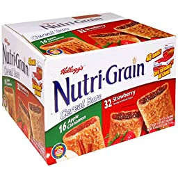 Kellogg\'s Nutri-Grain Cereal Bars (Variety Pack of Strawberry and Apple Cinnamon, 48-Count Box)