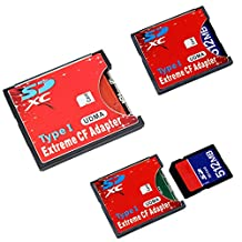 Pink Lizard Extreme Single SD MMC SDHC SDXC Slot To CF Type I Compact Flash Memory CF Card Adapter