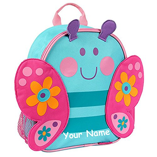 Stephen Joseph Personalized Little Girls' Mini Sidekick NEW STYLE Butterfly Backpack With Name