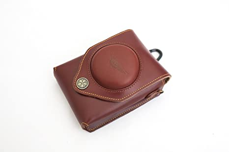 Handmade Genuine real Leather Full Camera Case bag cover for SONY RX100 Brown Color