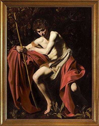 Marco-Michelangelo-Merisi-da-Caravaggio-Giclee-Lienzo-Impresion-Pintura-poster-Reproduccion-PrintSan-Juan-Bautista-en-el-Desierto