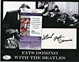 FATS DOMINO WITH THE BEATLES SIGNED AUTOGRAPHED 8X10 PHOTO JSA R94927