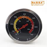 Bar.B.Q.S Outdoor Barbecue BBQ Smoker Grill Stainless Steel Thermometer Temperature Gauge 01T08