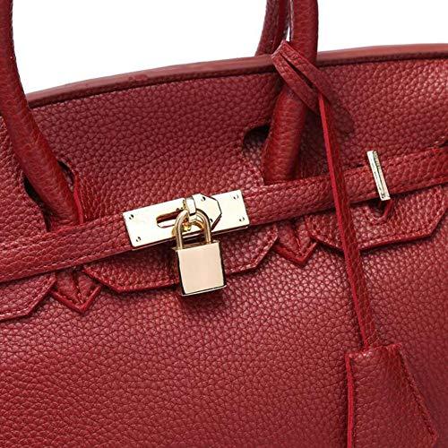 Donna Elegante Red In Borse Vacchetta Pochette Da Tracolla Tasca Donna Multifunzionale Moda Pochette Da Clutch Con Da Litchi UwqIzwTn