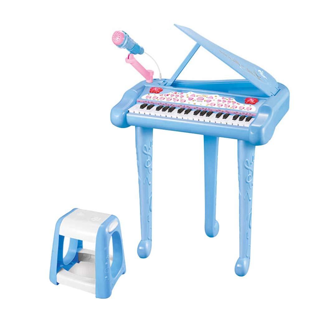 LINGLING-キーボード 多機能電子ピアノの少年少女のおもちゃのピアノのおもちゃ (色 : 青)  青 B07L9379PB