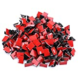 Efanr 100Pcs Self-adhesive Cable Clips Plastic Quickly Tie Cable Clips Car Cable Organizer Wire Management Cord Tie Holder for Car, Office and Home